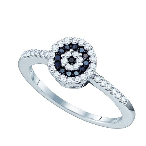 Black Diamond Engagement Ring A Halo Approach